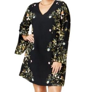 Rachel Roy Floral printed split sleeve dress 20W